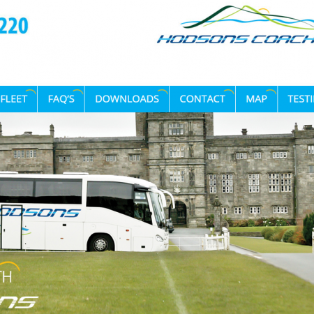 Hodsons Coaches Website
