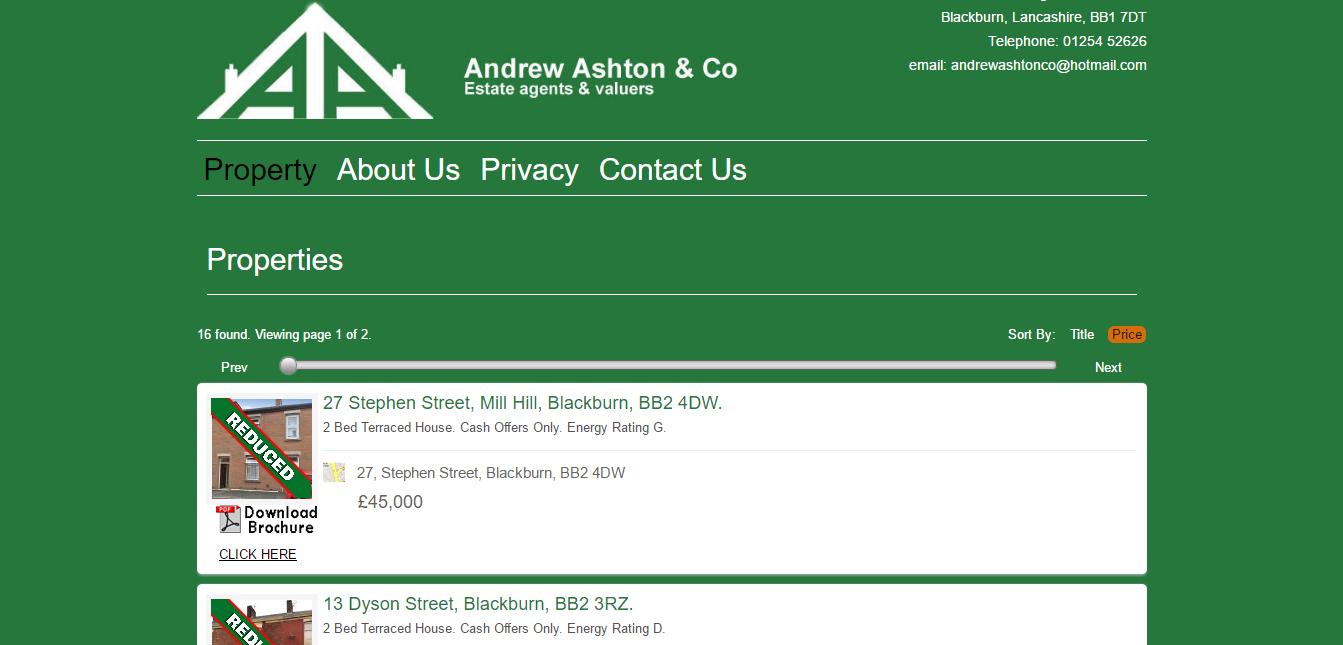 Andrew Ashton Estate Agents Blackburn