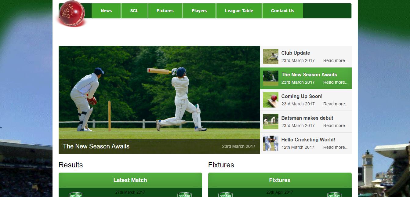 Cricket Club Websites