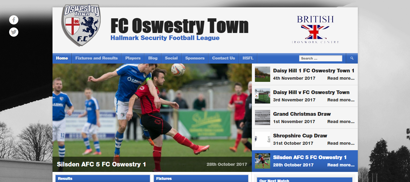 Web Design by Magic sponsors FC Oswestry Town