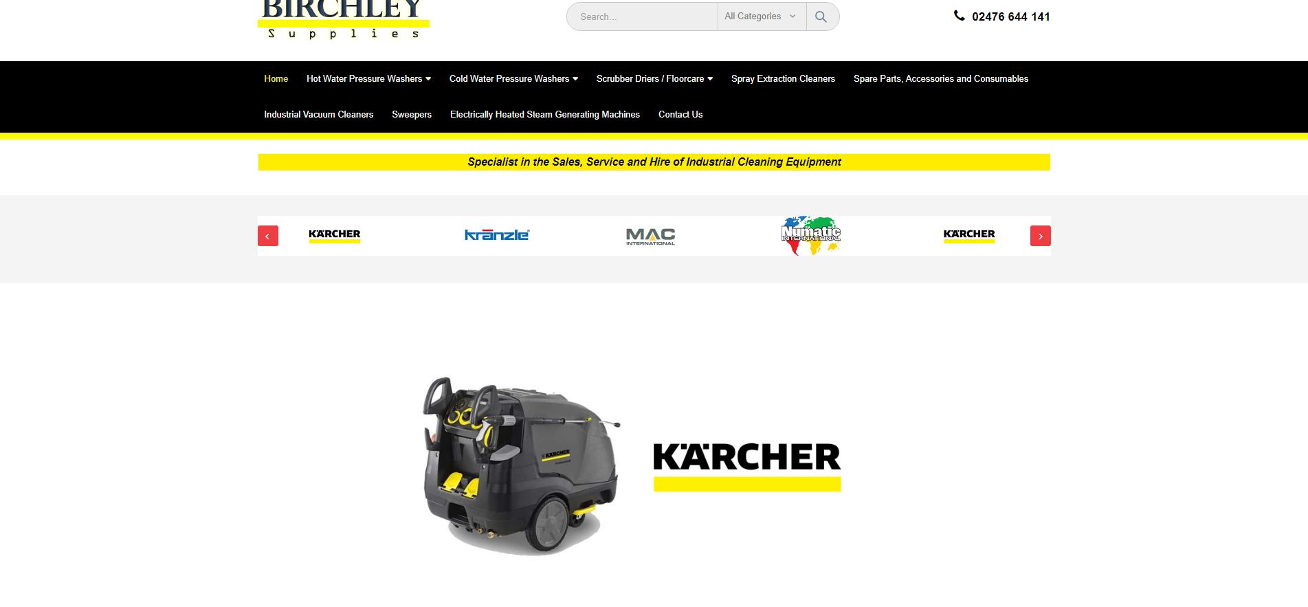 Birchley Supplies- Web Design Blackburn