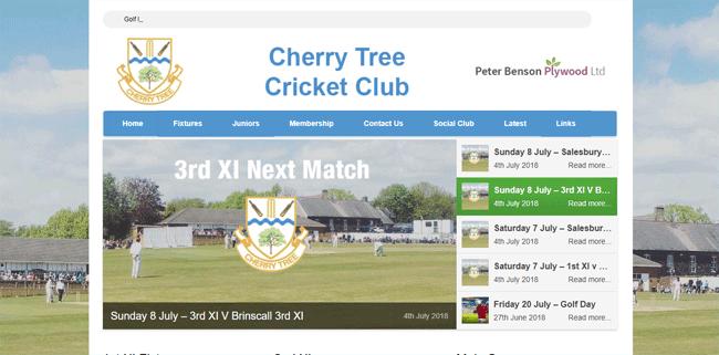 Cherry Tree Cricket Club | Web Design Blackburn
