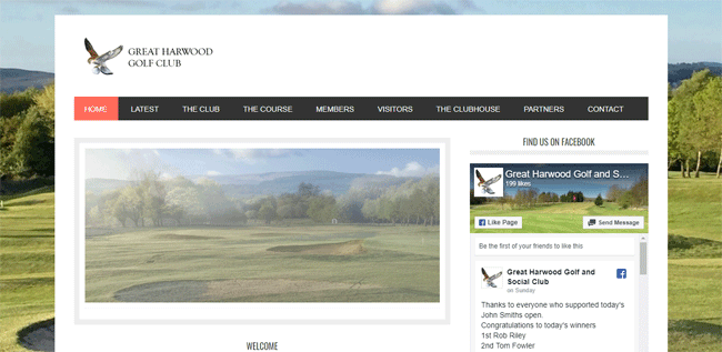 Great Harwood Golf Club | Website Design Blackburn