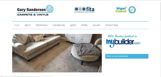 Gary Sanderson Carpets | Web Design Blackburn