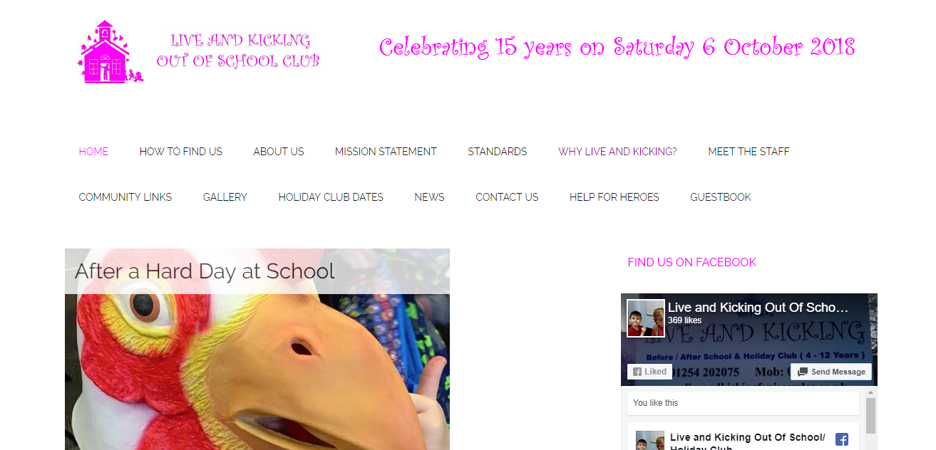 Live and Kicking - Website Design in Blackburn