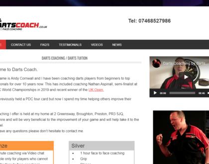Darts Coach - Andy Cornwall